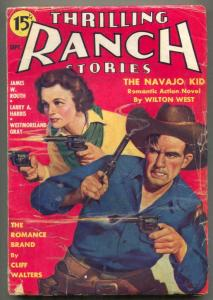Thrilling Ranch Stories Pulp September 1935- Navajo Kid
