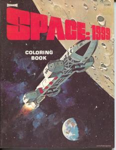 Space:1999 Coloring Book C1881 1975-Canadian printing-unused file copy-VF