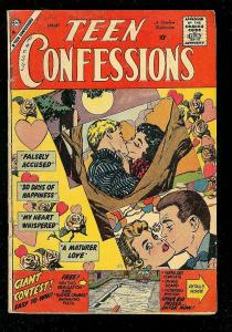 TEEN CONFESSIONS #1 1959-CHARLTON ROMANCE COMICS-RARE G+