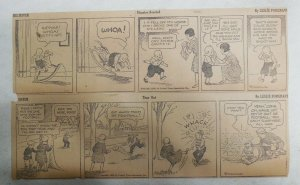 (308) Big Sister Dailies by Les Forgrave from 1929 Size: 4 x 12 inches
