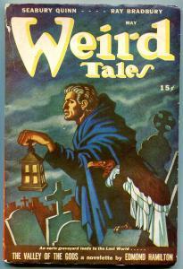 Weird Tales May 1946- Valley of the Gods-Bradbury- Quinn VG/F