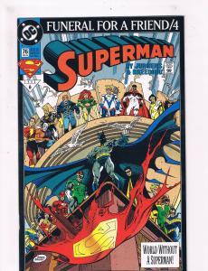 Superman # 76 VF 1st Print DC Comic Book Batman Flash Atom DE2