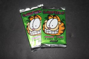 Vintage 1995 Garfield Trading Cards Wax Pack x2 (2 packs) h11