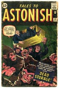 Tales To Astonish #33 1962 Steve Ditko Art- marvel-jack Kirby G+