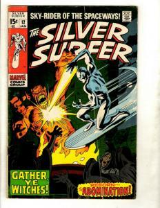 Silver Surfer # 12 FN- Marvel Comic Book Avengers Fantastic Four Galactus GK1