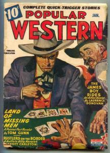 Popular Western Pulp January 1944- James Boy Rides