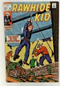 Rawhide Kid #70  FN- Marvel Comic 1969  Bronze Age  Western Cowboy Comics