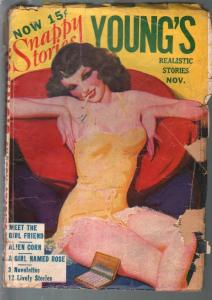 Young's Realistic Stories 11/1941-linherie clad babe-spicy type pulp-G