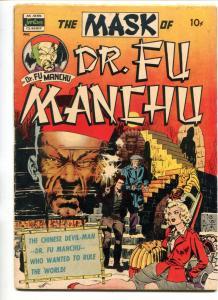 MASK OF FU MANCHU #1-1951-AVON-SAX ROHMER-WALLY WOOD-PULP VILLAIN-vg