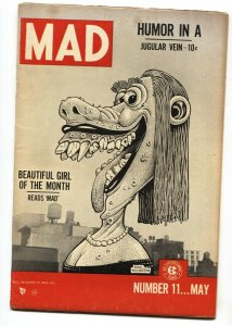 MAD #11 1954-EC-Wally Wood-Classic Wolverton cover-Severin-Davis VG/FN