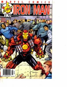 Lot Of 2 Comic Books Marvel Iron Man #43 and #45 Thor Avengers  MS9