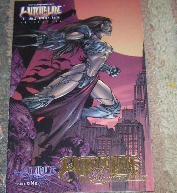 witchblade # 36 mid west gold foil rare limited edition darkness