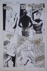 GRAY MORROW original art, POWERLINE #7 pg 14,11x17, 1989, more art in store
