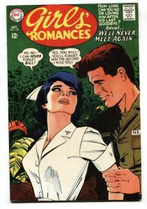 Girls' Romances #128 comic book 1967- DC Romance- Nurse cover VG+