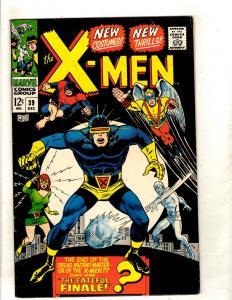 (Uncanny) X-Men # 39 VF Marvel Comic Book Angel Beast Cyclops Jean Grey JF15