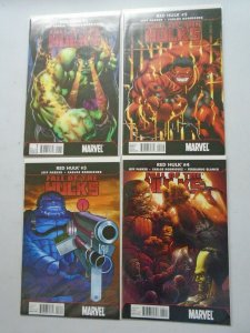 Fall of the Hulks Red Hulk set #1-4 8.0 VF (2010)