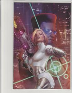 Cyber Spectre #1 Kickstarter Exclusive Jay Anacleto Virgin Cover Scout Comic NM