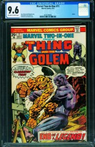 Marvel Two-In-One #11 CGC 9.6 - Thing - Golem - 1975 2070169006