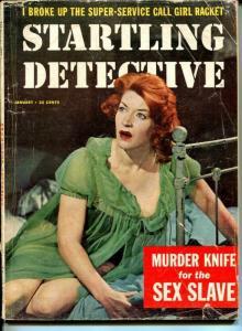 Startling Detective January 1958-True Crime-Murder of the School Girl Bride