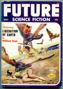 Future Science Fiction Pulp May 1953- Liberation of Earth VG