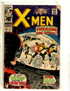 (Uncanny) X-Men # 37 VG- Marvel Comic Book Cyclops Iceman Beast Jean Grey BJ1