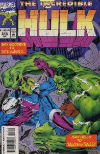 Incredible Hulk, The #419 VF; Marvel | save on shipping - details inside