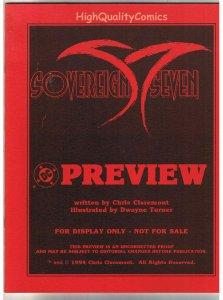 SOVEREIGN SEVEN, Black White Promo, Chris Claremont, 1994, VF/NM, Preview