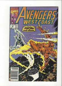 Avengers West Coast #63 Living Lightning NM