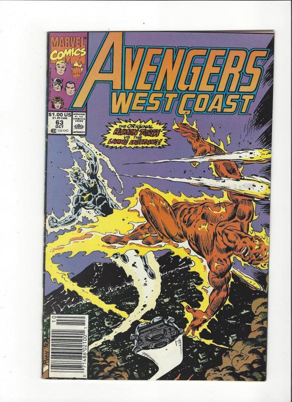 Avengers West Coast #63 Living Lightning NM