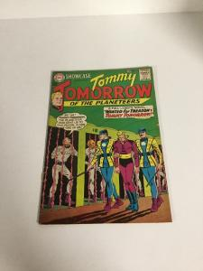 Showcase 44 Tommy Tomorrow Vg+ Very Good+ 4.5 Bottom Staple Punched Silver Age