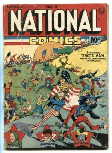 National Comics #9 1941- LOU FINE Uncle Sam cover G/VG