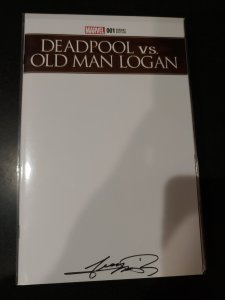 DEADPOOL VS. OLD MAN LOGAN #1 SIGNED BY GEORGE PEREZ WITH COA