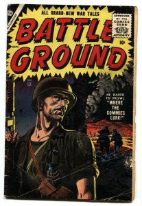 Battle Ground #13 1956-Atlas-Great RUSS HEATH War cover