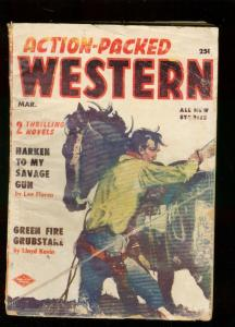 ACTION-PACKED WESTERN PULP MARCH 1956-DEADLY MYSTERY G