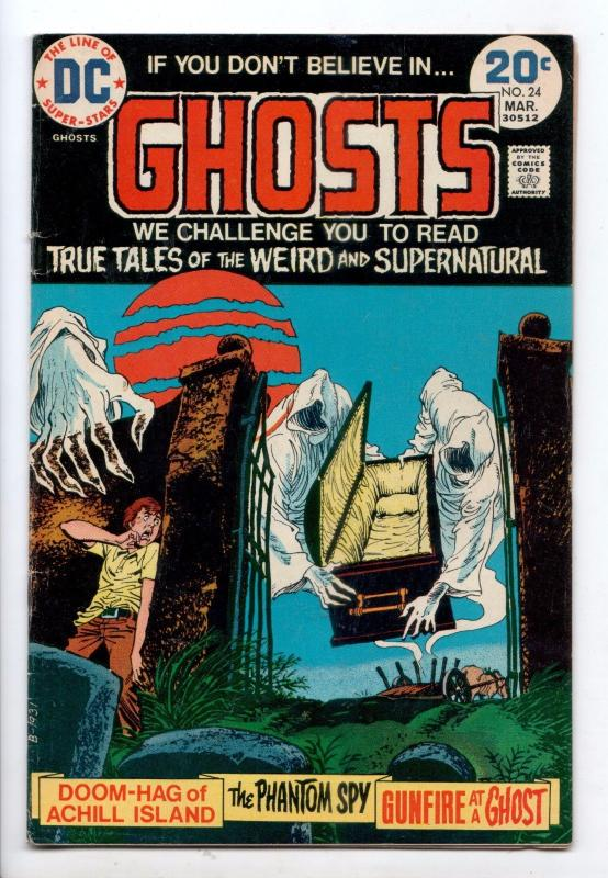 Ghosts #24 - You, Too, Will Die! (DC, 1974) - FN/VF