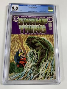 Swamp Thing 1 Cgc 9.0 Ow/w Pages 2031406007 Dc Comics Bronze Age