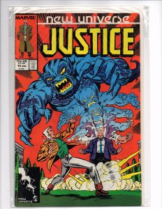 Marvel Comics New Universe Justice #13 Gerry Conway Story Tom Morgan Cover
