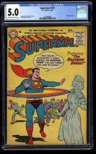 Superman #101 CGC VG/FN 5.0 Cream To Off White The Rainbow Doom!