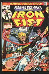MARVEL PREMIERE 15 VG 1st APPEARANCE and ORIGIN  IRON FIST