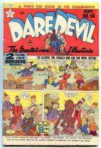 DAREDEVIL #56 1949-LEV GLEASON-CHARLES BIRO-LITTLE WISE VG