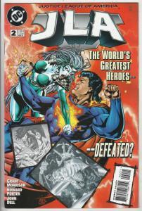 JLA #2 (Feb-97) NM+ Super-High-Grade Justice League of America