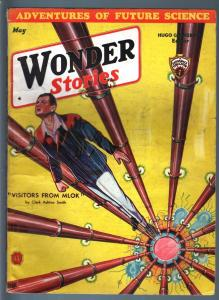 WONDER STORIES 1933 MAY-SCI FI PULP-FRANK R PAUL ART! VG