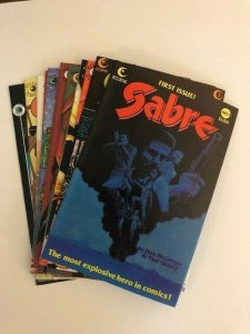 LOT of 11-Eclipse Comics SABRE #1-10 ,12 VERY FINE (A90)