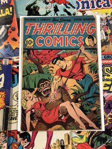 Thrilling Comics #53 VG+ 4.5 10c GOLDEN AGE usa AMERICANA jungle schomburg