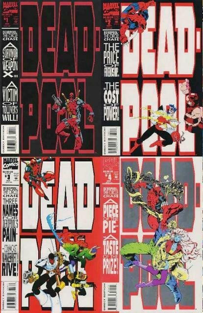 DEADPOOL CIRCLE CHASE (1993) 1-4  The 1st Series!