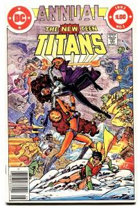 NEW TEEN TITANS ANNUAL #1 comic book 1982-Robin-Kid Flash DC