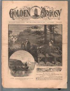 Golden Argosy #245 8/13/1887-Munsey-Argosy precursor-Oliver Optic-FR/G
