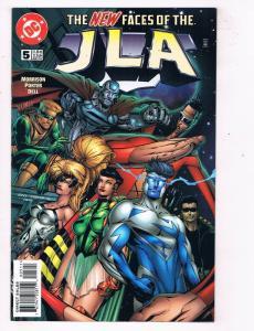 JLA #5 VF DC Comics Comic Book Morrison Superman May 1997 DE46