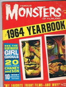 Famous Monsters Of Filmland 1964 Yearbook Warren Magazine VG Horror Dracula J70