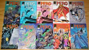 Perg #1-8 VF/NM complete series + (2) variants - first appearance hellina signed
